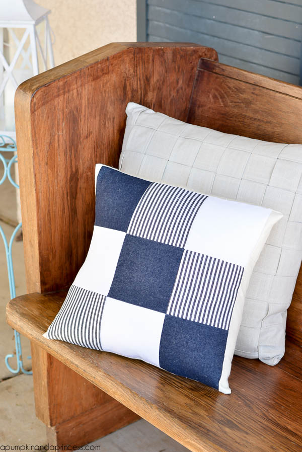 Quilting Patterns For Pillow Covers : DIY Quilted Denim Pillow - A Pumpkin And A Princess