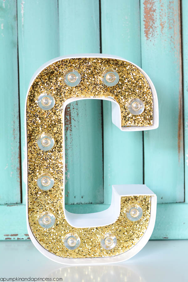 Gold Marquee Letter