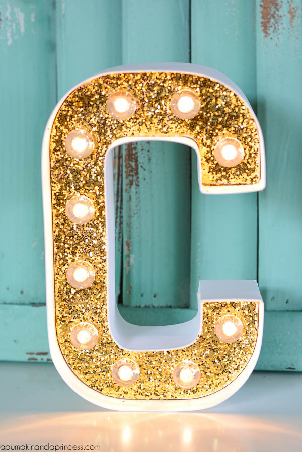 Gold Marquee Letters