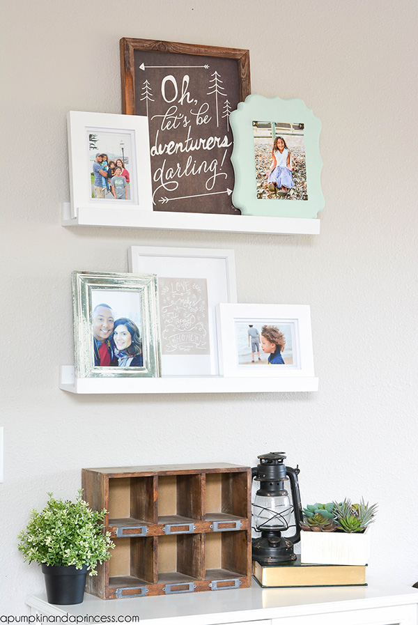 Photo Ledge Decor