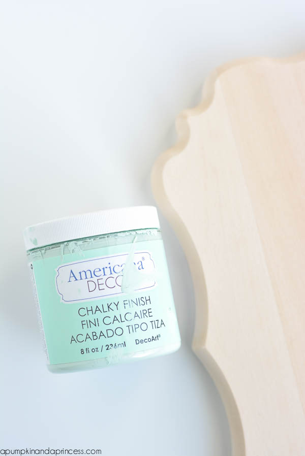 chalky finish photo plaque
