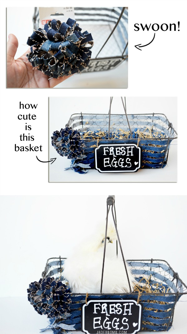 denim basket diy
