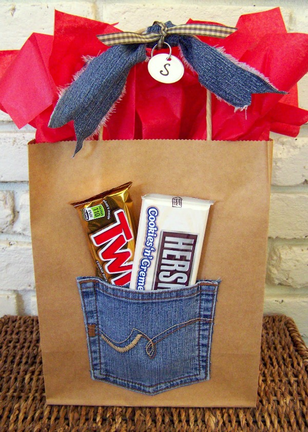 denim gift bag