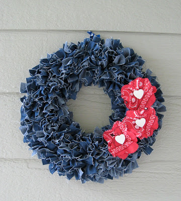 denim jean wreath
