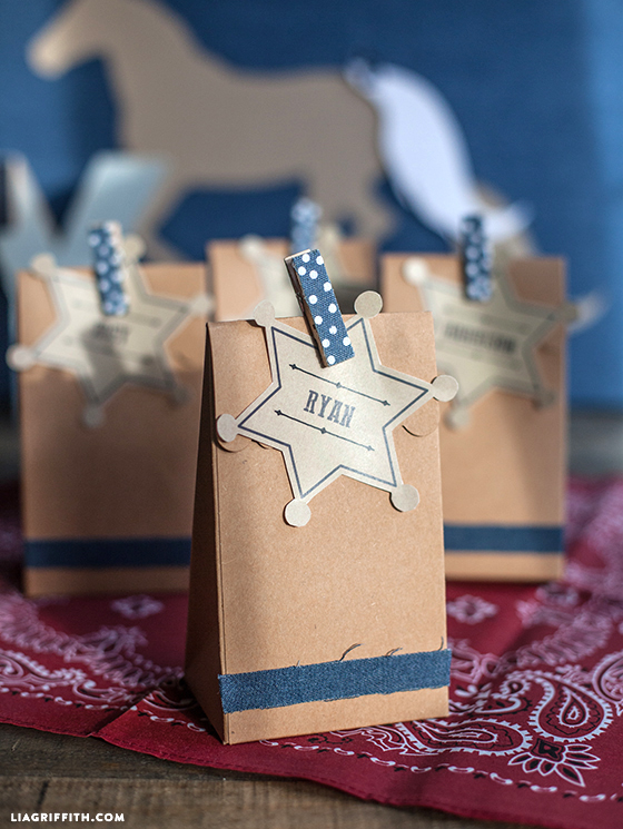 denim party favors