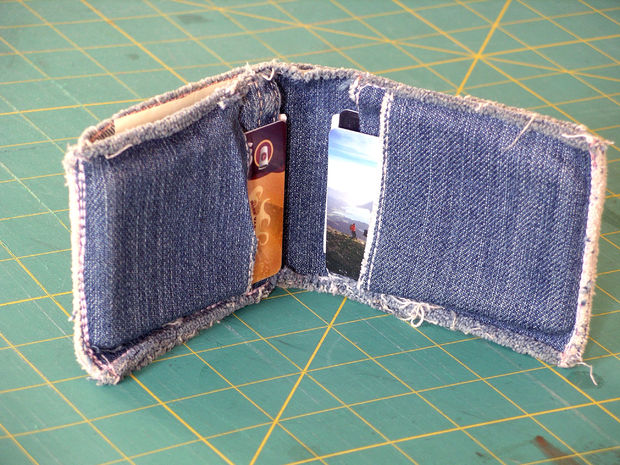 diy denim wallet