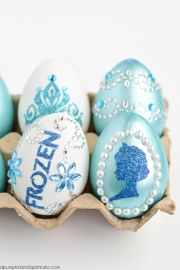 DIY Glitter Frozen Easter Eggs