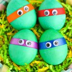 Dyed Ninja Turtles Easter Eggs