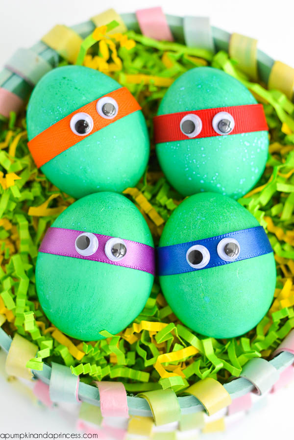Dyed Ninja Turtles Easter Eggs. DIY Confetti Eggs & Dyed Minion Easter Eggs - A Pumpkin And A Princess
