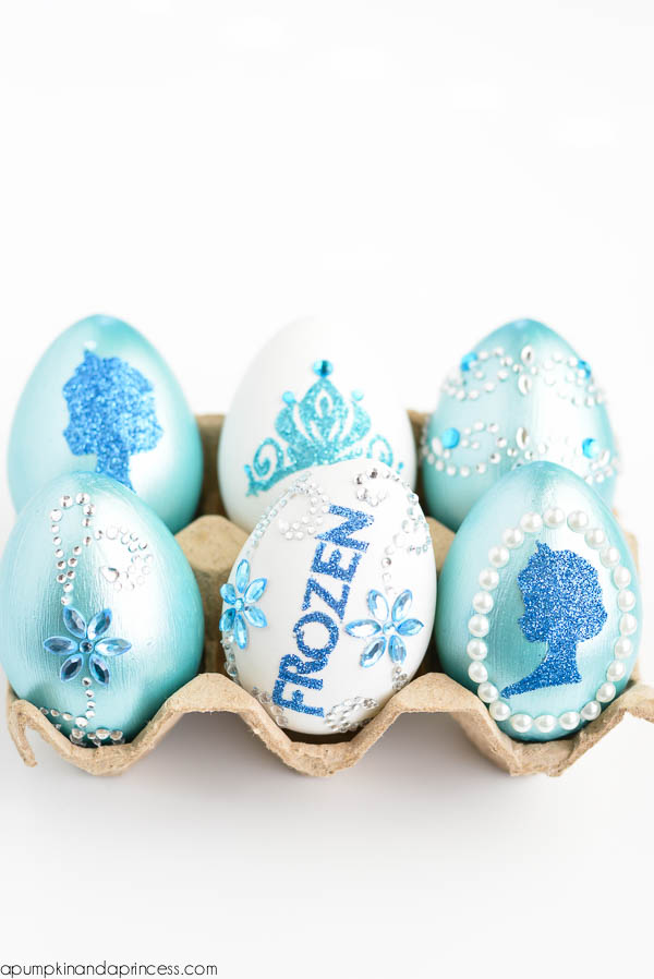 Glitter Disney Frozen Easter Eggs