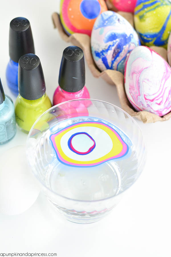 Nail Polish Art - Marbled Eggs