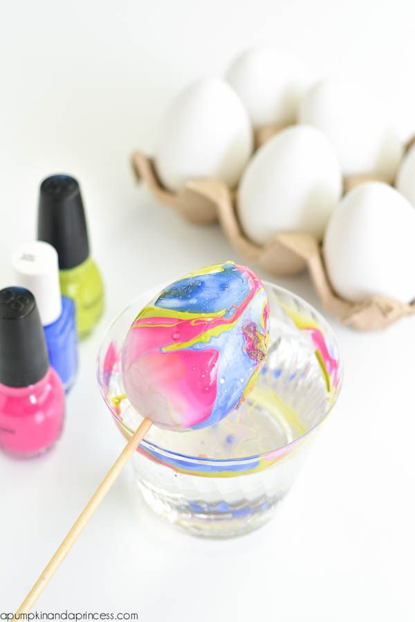 Diy Nail Polish Marbled Eggs A Pumpkin And A Princess