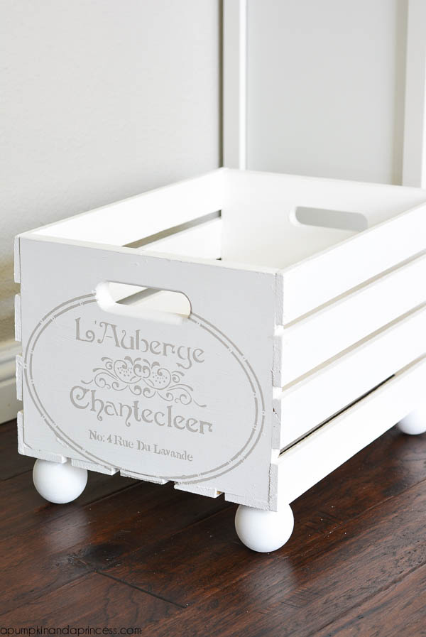 Stenciled Parisian Crate