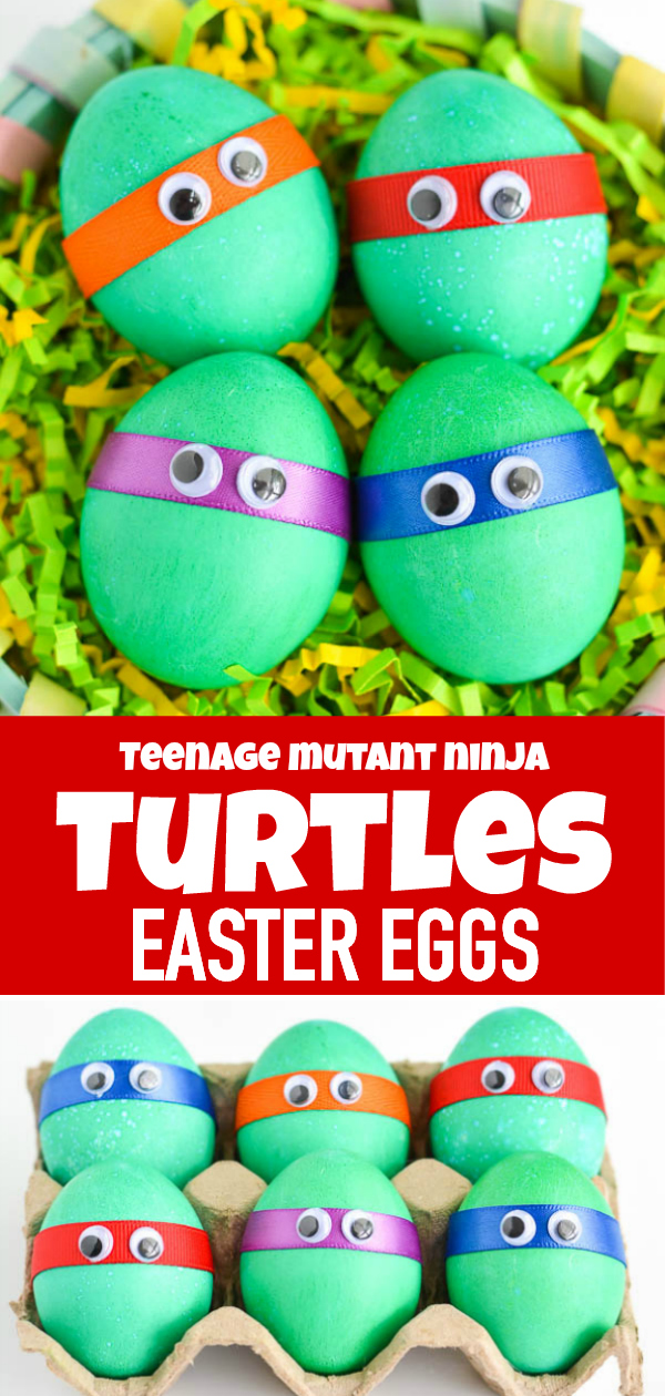 Ninja Turtles Easter Eggs - easy craft idea for kids