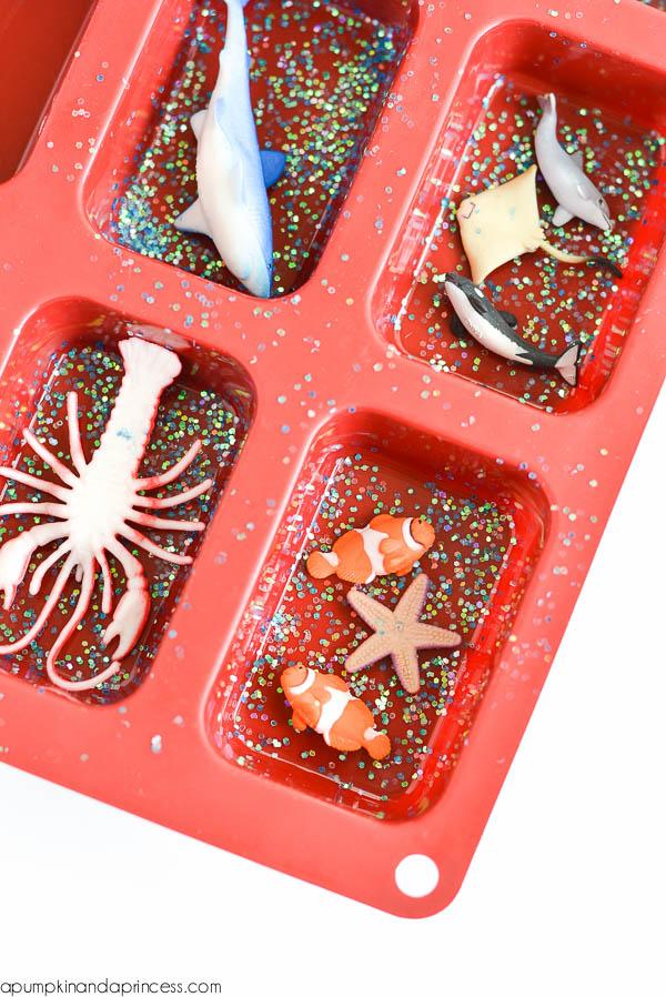 DIY Kids Ocean Soap