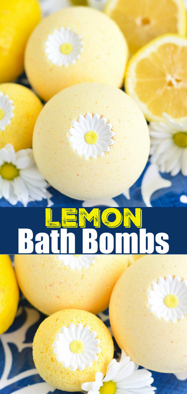 DIY Lemon Bath Bombs recipe tutorial