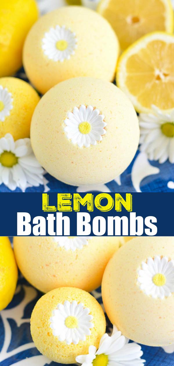 DIY Lemon Bath Bombs recipe tutorial