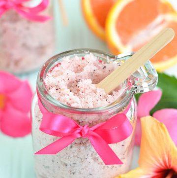 homemade passion fruit sugar scrub