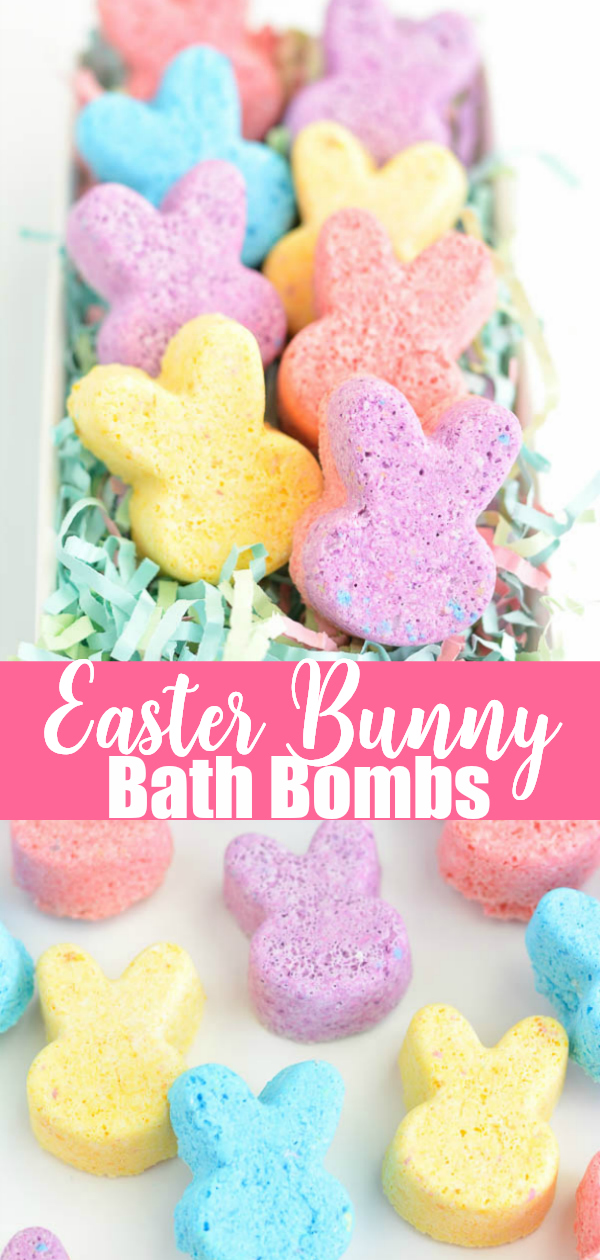 DIY Easter Bath Bombs for kids - how to make bunny bath bombs with calming essential oils