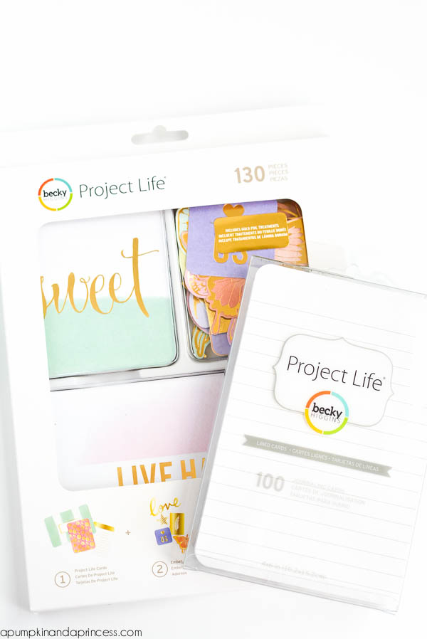 Project Life - card journals