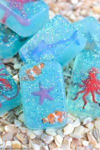 glitter toy filled soap for kids