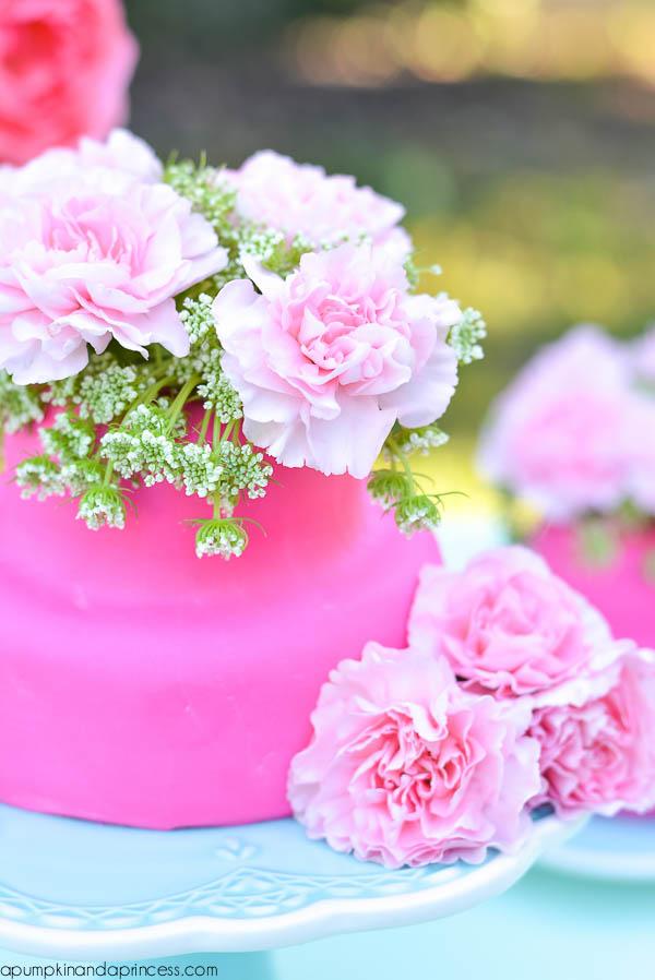 DIY Flower Cakelette