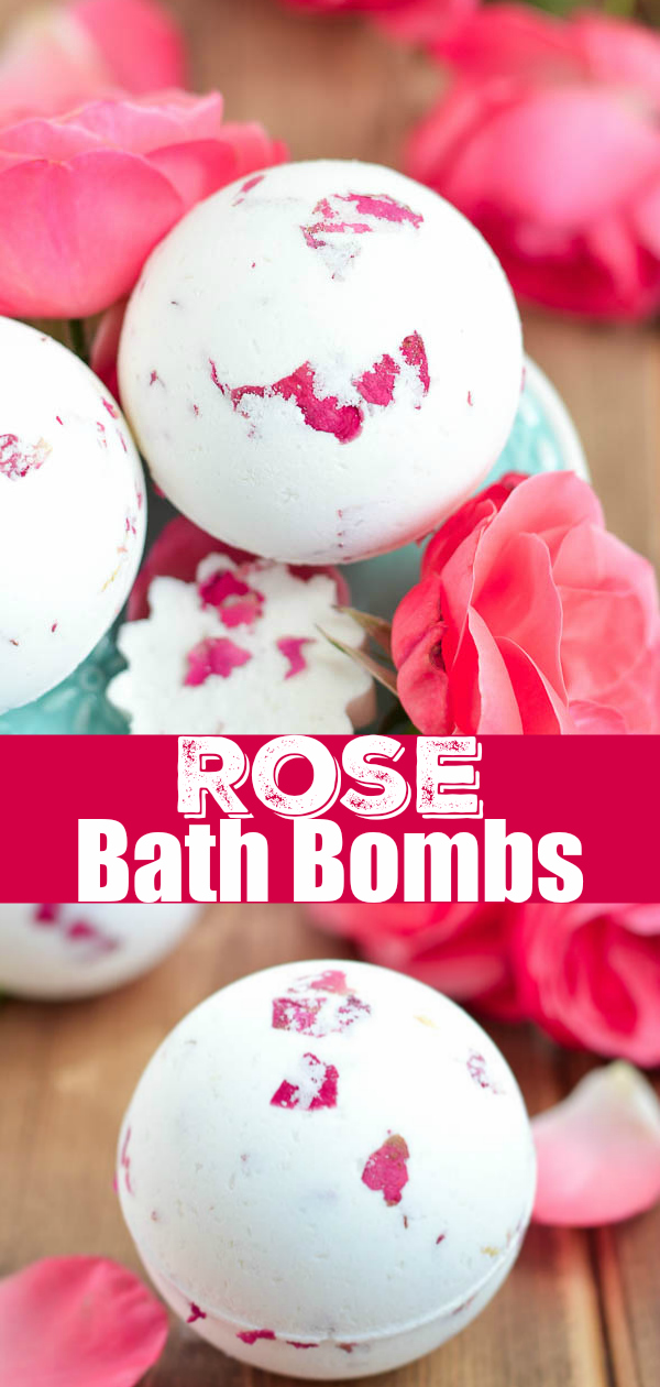 How to make rose bath bombs with rose petals and essential oils