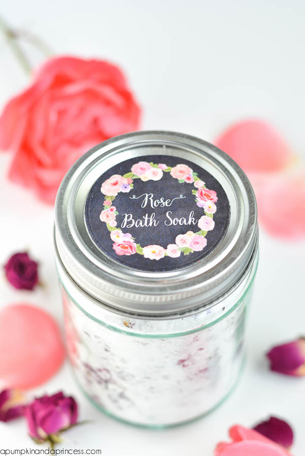 DIY Rose Petal Bath Soak