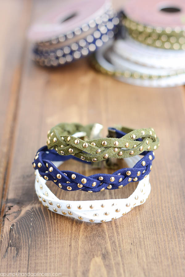 DIY Stud Braid Bracelet Tutorial