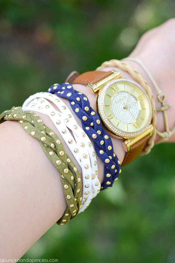 DIY Studded Braid Bracelets