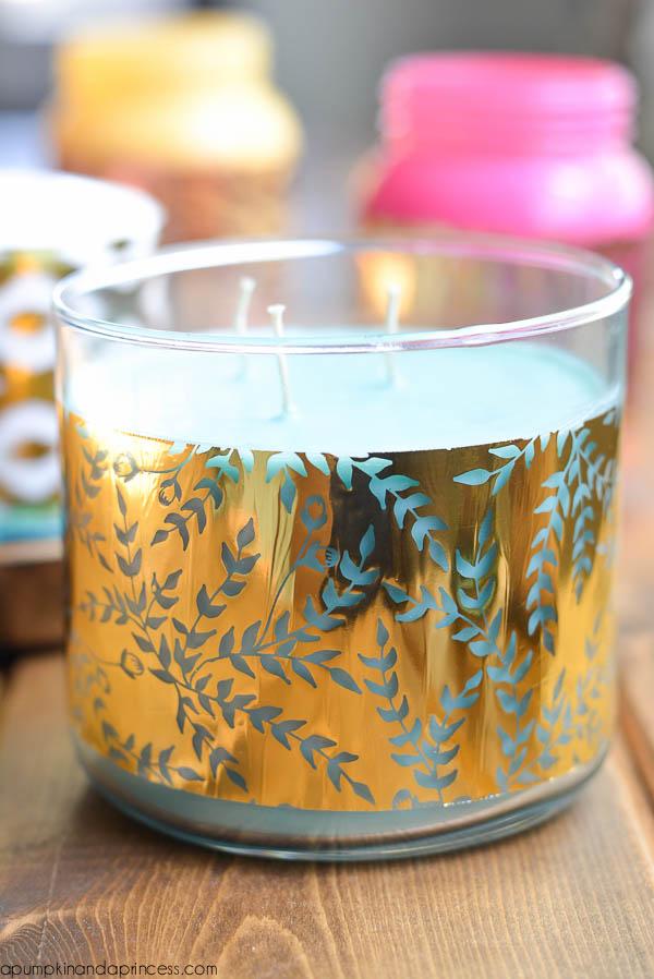 Foil Candle Wraps - DIY
