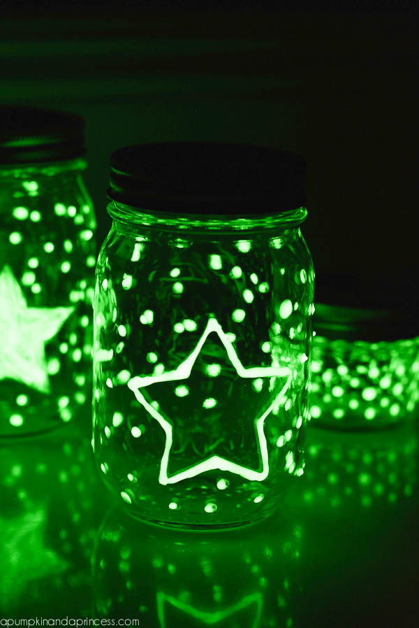 Glow in the dark mason jar tutorial