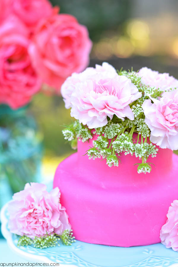 Mother's Day Flower Cake