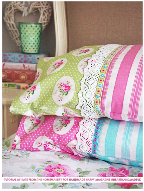 how to sew a pillowcase tutorial