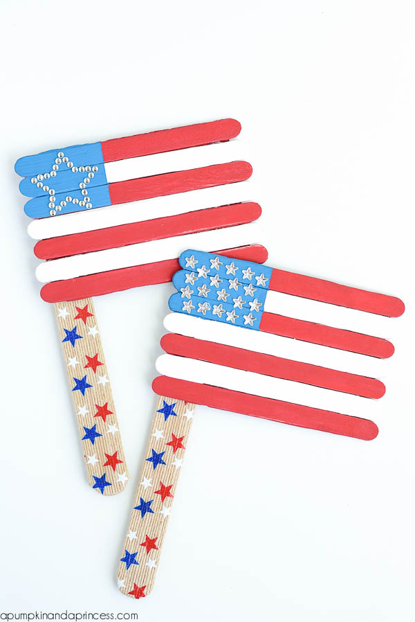 American Flag Popsicle Craft