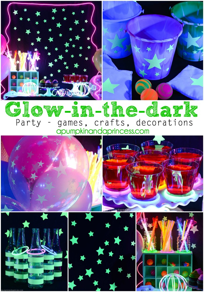 Glow-in-the-dark Party - A Pumpkin And A Princess on glow sticks in water, glow sticks cool, glow stick party decoration ideas, glow stick outdoor ideas, led lighting ideas, glow sticks in balloons, glow stick costume ideas, fun with glow sticks ideas, glow stick craft ideas, glow stick game ideas, glow sticks in the dark, 10 awesome glow stick ideas, glow stick decorating ideas, glow stick centerpiece ideas, glow in the dark ideas,