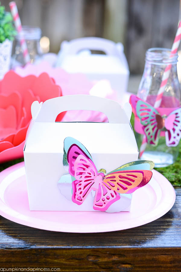 DIY Gold Foil Butterfly Favors