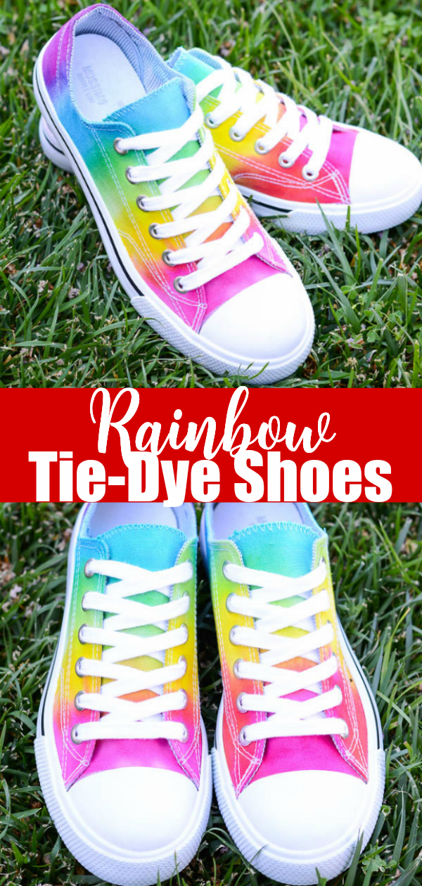 How to make rainbow tie-dye shoes