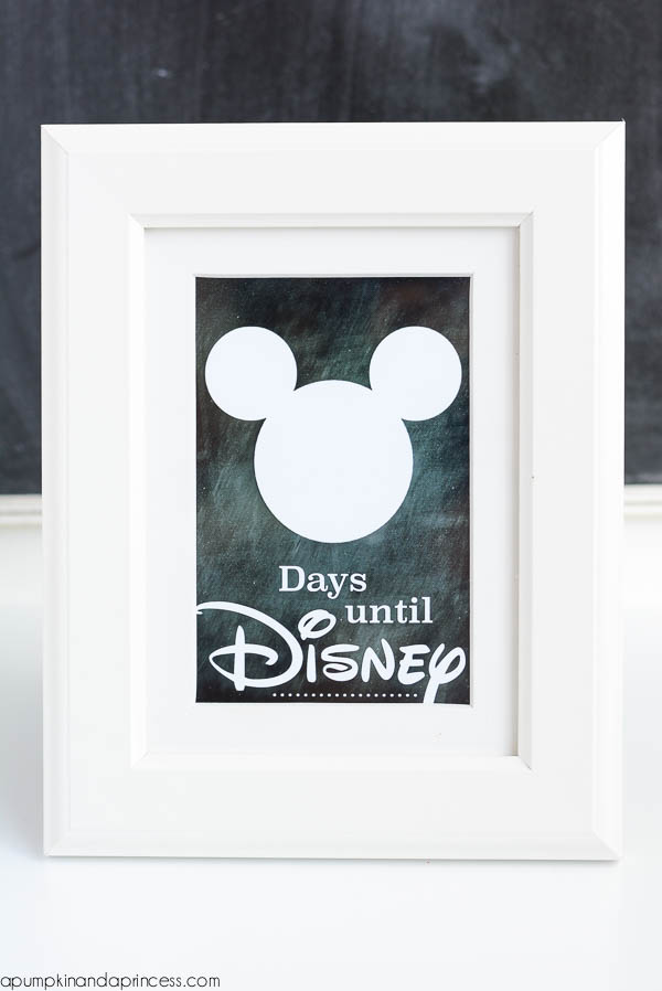 Disney Countdown {Printable} - A Pumpkin And A Princess