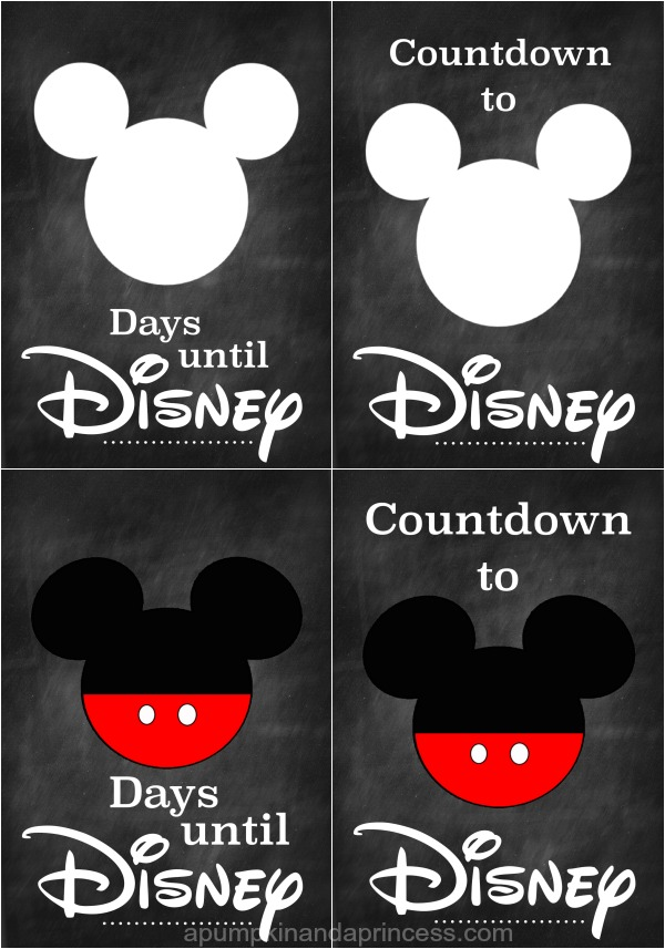 picture about Disney Countdown Printable known as Disney Countdown Printable - A Pumpkin And A Princess