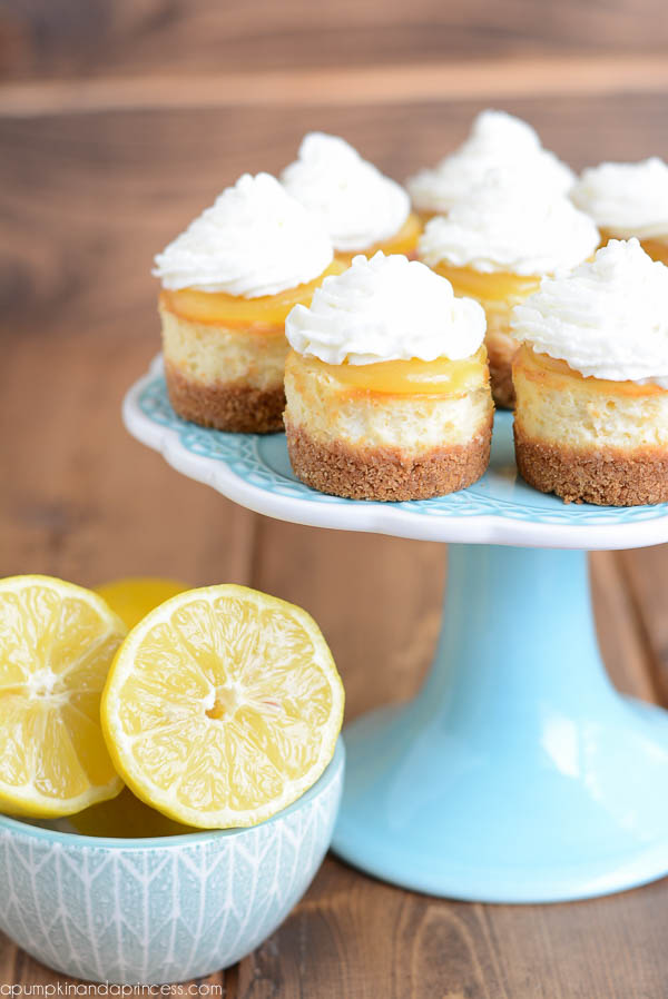 Mini Lemon Curd Cheesecakes