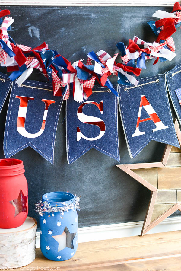 DIY Patriotic Denim Banner