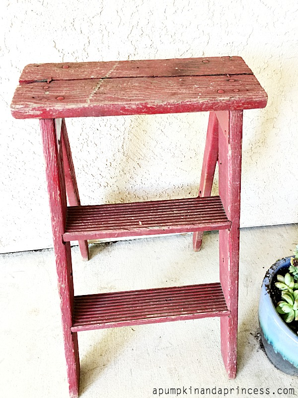 vintage step ladder - diy makeover