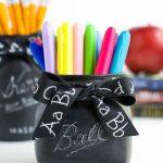 Chalkboard Mason Jar Teacher Gift