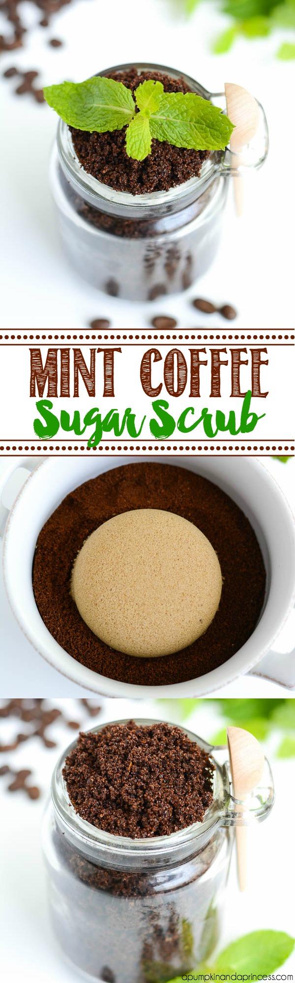 Peppermint Coffee Sugar Scrub