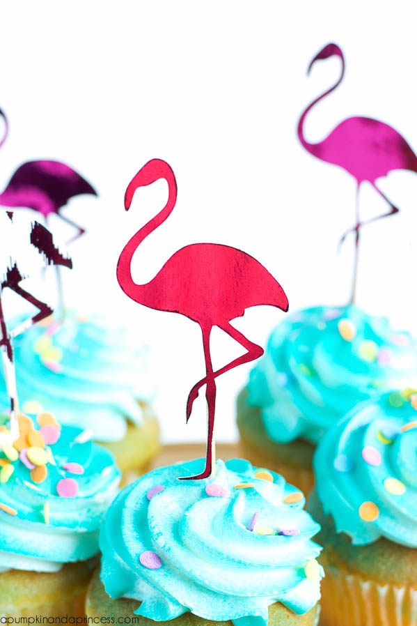 Pink Flamingo Cupcake Toppers