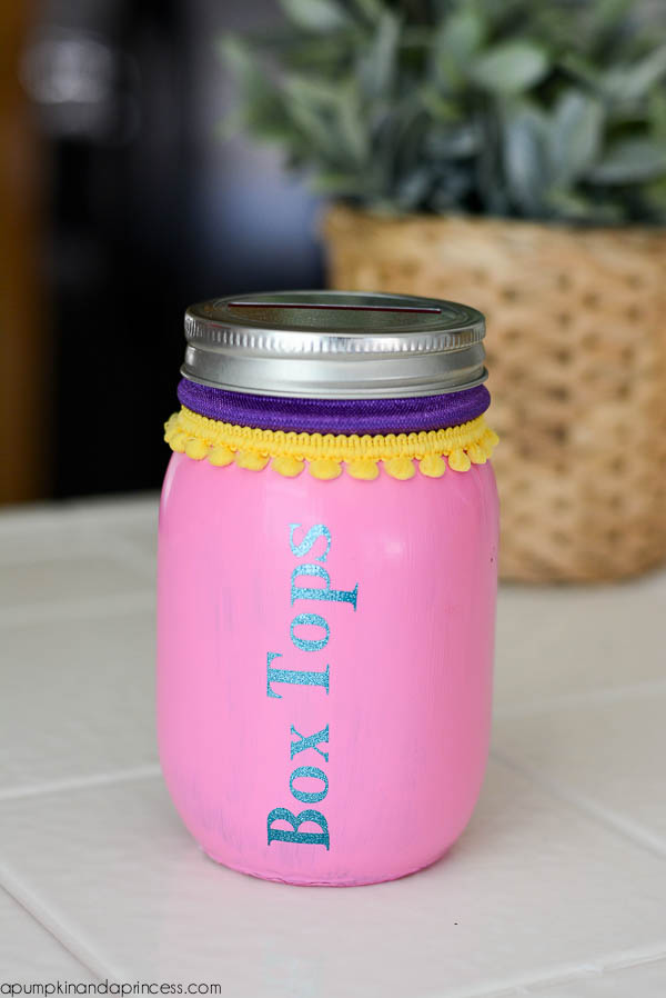 Box Tops Mason Jar