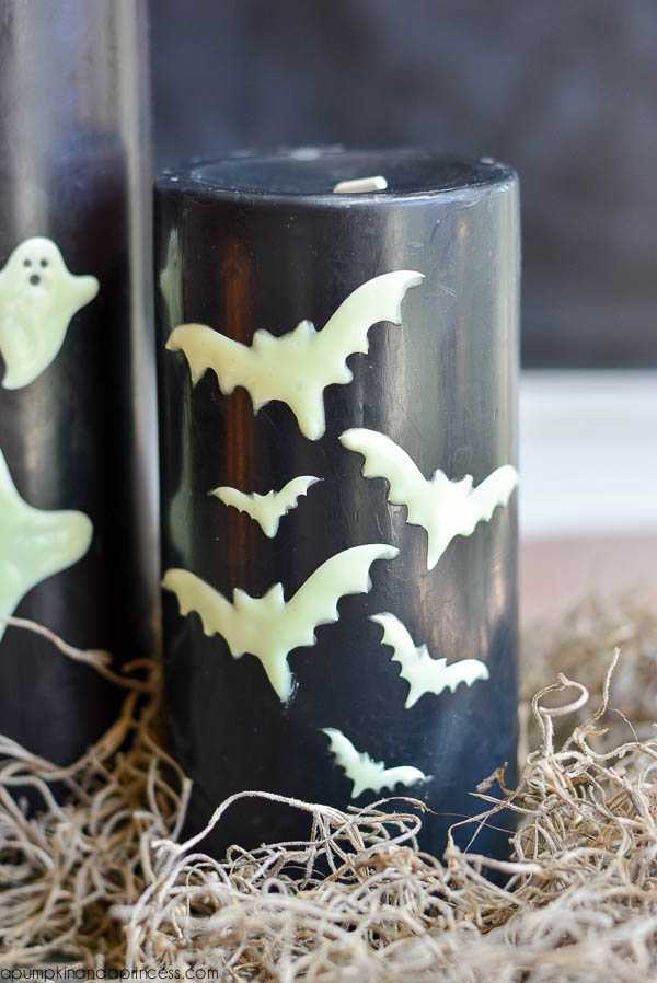 DIY Bat Candle