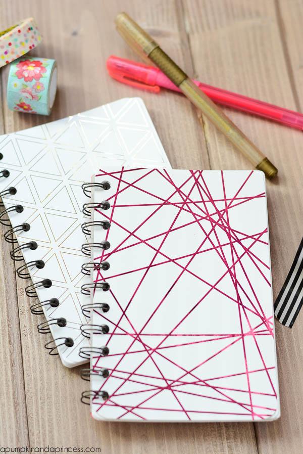 DIY Gold Foil Mini Notebooks