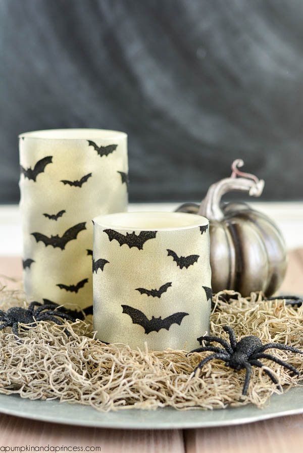 DIY Halloween Bat Candles